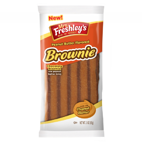 Mrs Freshley's Peanut Butter Chocolate Brownie 3oz (85g) (US)